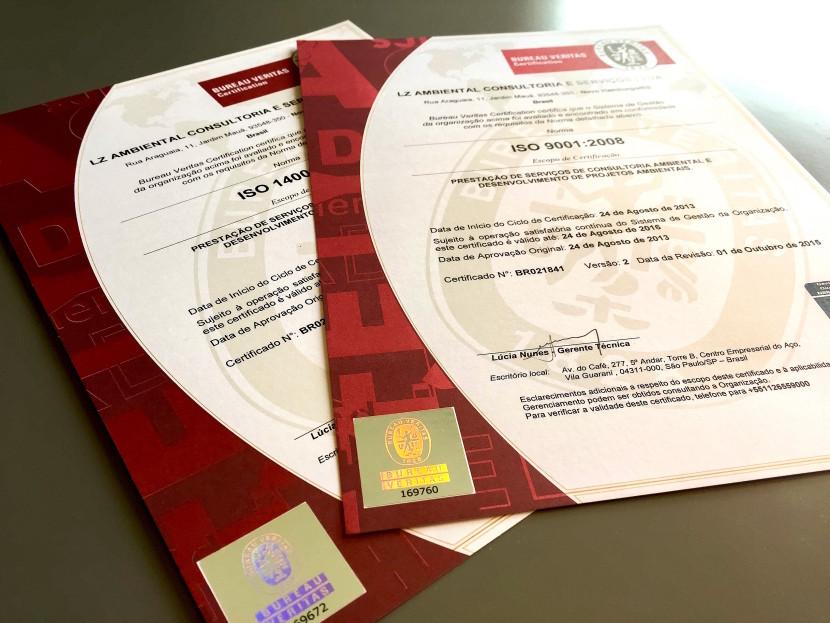LZ Ambiental é Certificada ISO 9001 e 14001